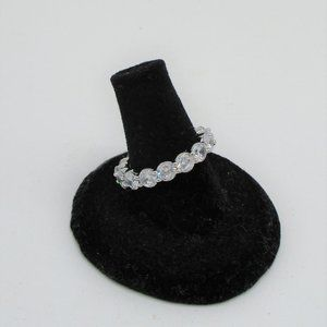 eternity ring made with swarovski elements brass crystal  SIZE 6